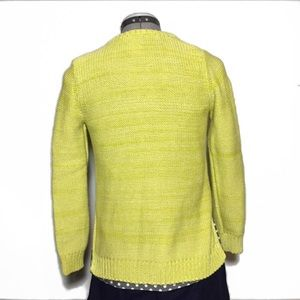 Field & Flower (Anthro) Lime Green Knit Cardigan S